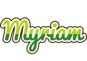 Myriam golfing logo