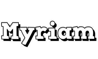 Myriam snowing logo