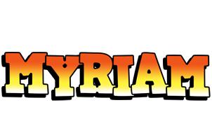 Myriam sunset logo