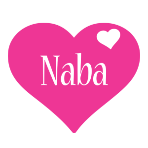 Naba love-heart logo