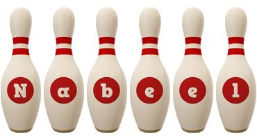 Nabeel bowling-pin logo