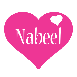 Nabeel love-heart logo