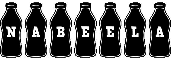 Nabeela bottle logo