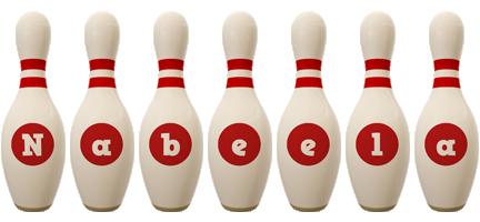 Nabeela bowling-pin logo