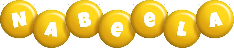 Nabeela candy-yellow logo