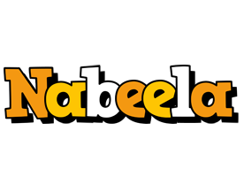 Nabeela cartoon logo
