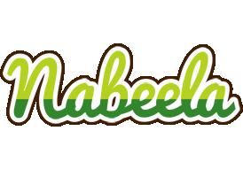 Nabeela golfing logo