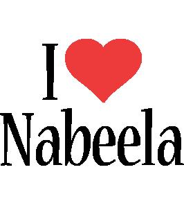 Nabeela i-love logo