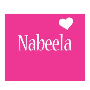 Nabeela love-heart logo