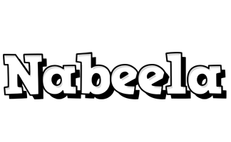 Nabeela snowing logo