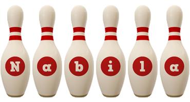 Nabila bowling-pin logo