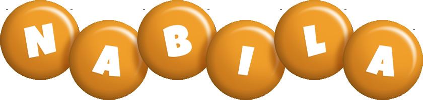 Nabila candy-orange logo