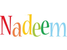 Nadeem birthday logo