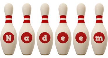 Nadeem bowling-pin logo