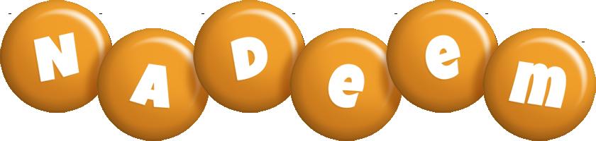 Nadeem candy-orange logo