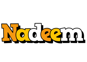 Nadeem cartoon logo