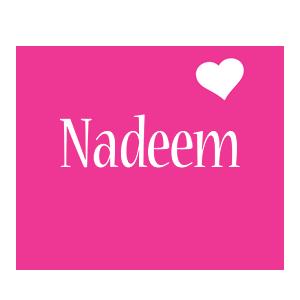Nadeem love-heart logo