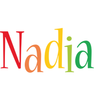 Nadia birthday logo