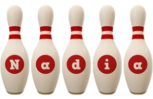 Nadia bowling-pin logo