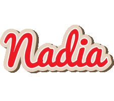 Nadia chocolate logo