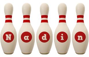 Nadin bowling-pin logo