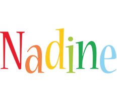 Nadine birthday logo
