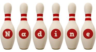 Nadine bowling-pin logo