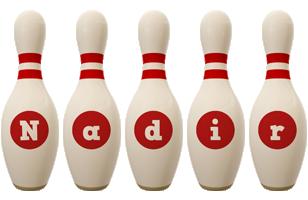 Nadir bowling-pin logo