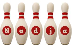 Nadja bowling-pin logo