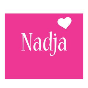 Nadja love-heart logo