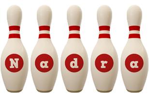 Nadra bowling-pin logo