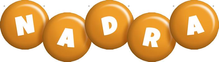 Nadra candy-orange logo