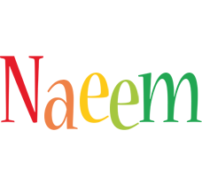 Naeem birthday logo
