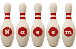 Naeem bowling-pin logo