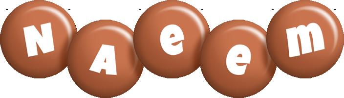 Naeem candy-brown logo
