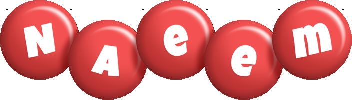 Naeem candy-red logo