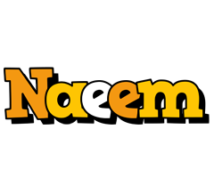 Naeem cartoon logo