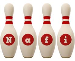 Nafi bowling-pin logo