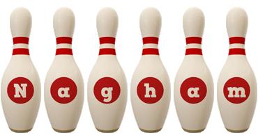 Nagham bowling-pin logo
