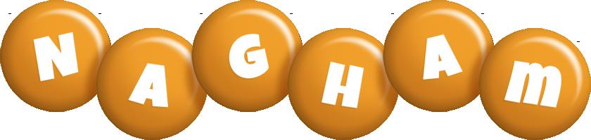 Nagham candy-orange logo