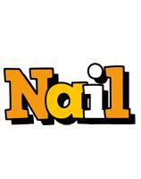 Nail cartoon logo
