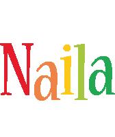 Naila birthday logo