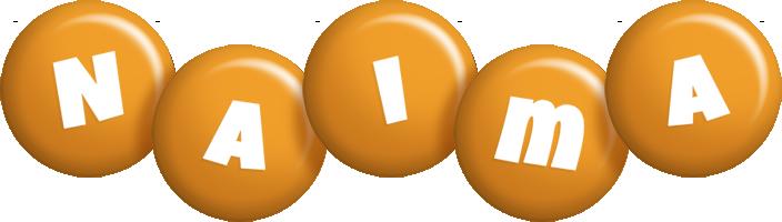 Naima candy-orange logo