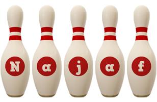 Najaf bowling-pin logo