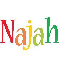 Najah birthday logo