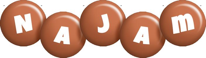 Najam candy-brown logo