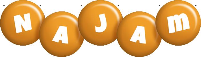 Najam candy-orange logo