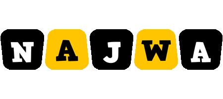 Najwa boots logo