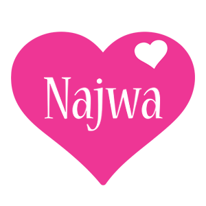 Najwa love-heart logo