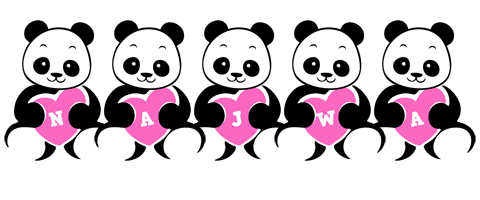 Najwa love-panda logo